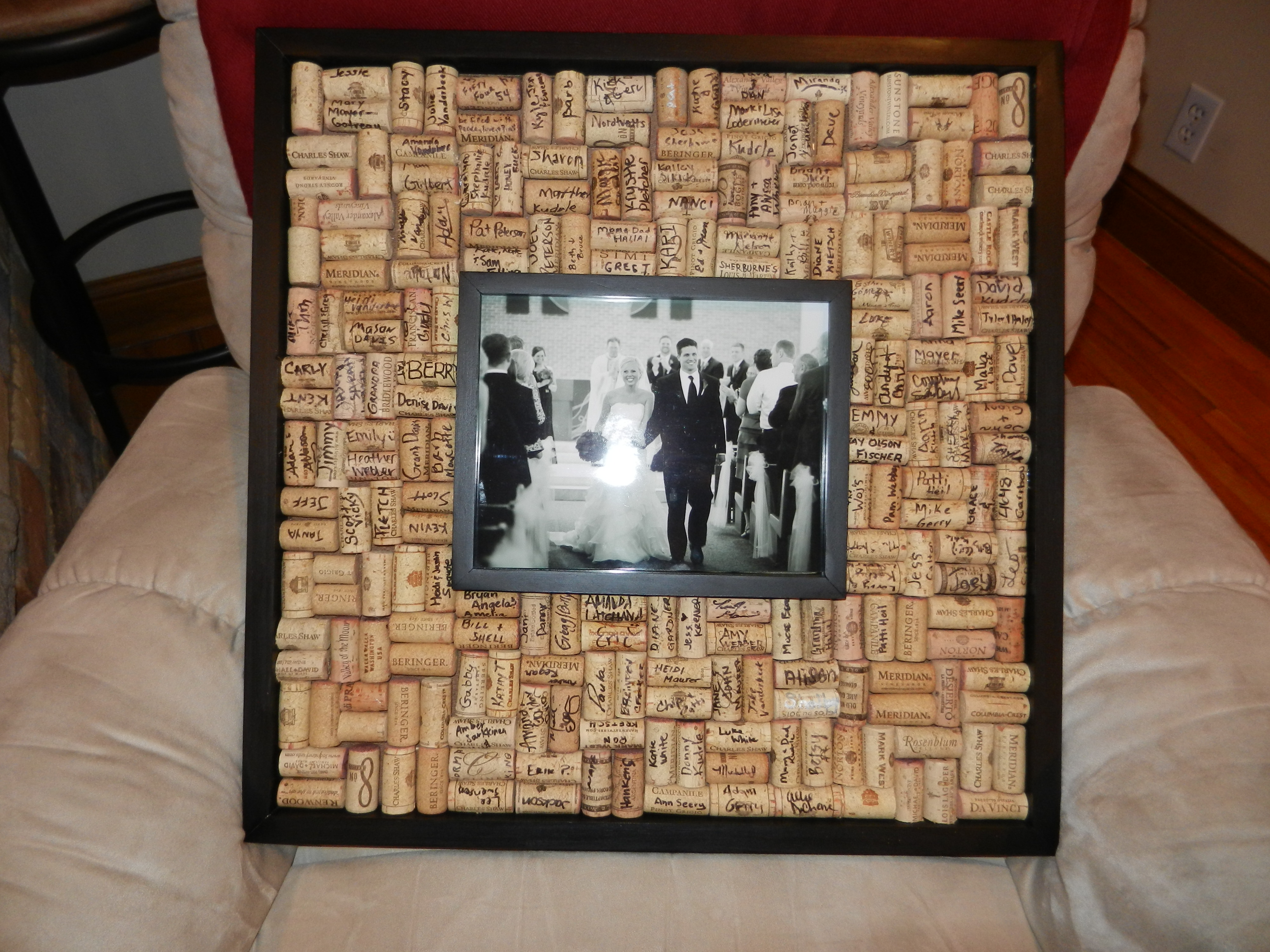 Wedding guest book wine corks archives beautifully nutty for Photo wedding guest book